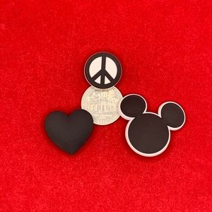 Peace Love and Mickey Shoe Charm Set